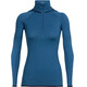 Icebreaker Fluid Zone LS Half Zip Hood Women prussian blue/midnight navy
